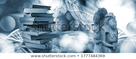 Ancient Slavonic prayer book Stock photo © olira