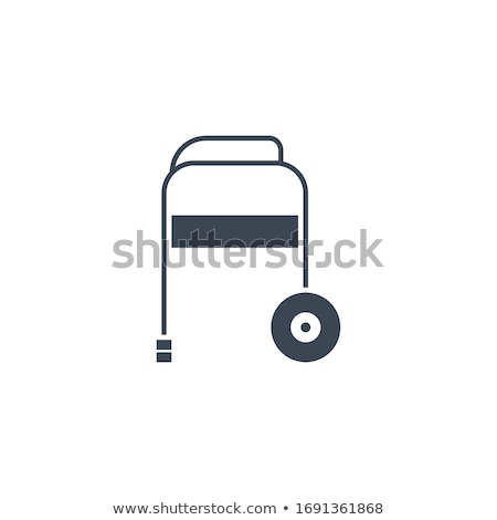 Walker related vector glyph icon. Stock photo © smoki