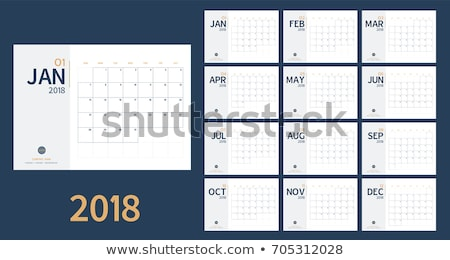 2018 year calendar. Week starts with sunday Stock photo © montego