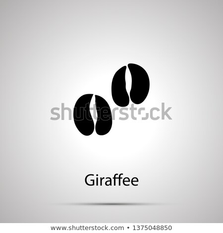 Giraffee paws, steps imprints, simple black silhouette Stock photo © evgeny89