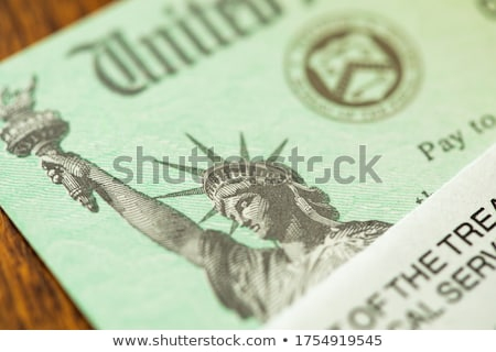 United States Internal Revenue Service, IRS, Check and Corner of Stock photo © feverpitch