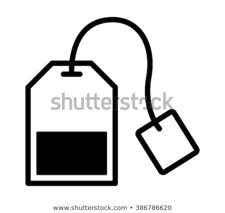 green tea bag icon vector outline illustration Stock photo © pikepicture