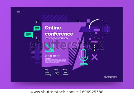 Online Meeting Creative Promotional Poster Vector Stock photo © pikepicture