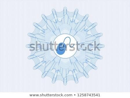 Számítógép egér világoskék hópehely stílus fehér magas Stock fotó © oneo