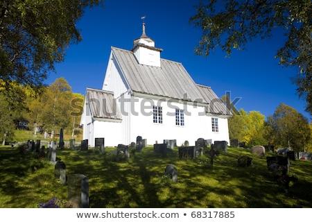 Kerk Noorwegen gebouw reizen architectuur land Stockfoto © phbcz