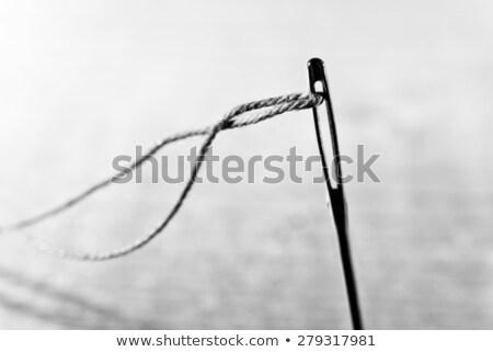 Draad vingerhoed naald traditioneel naaien jute Stockfoto © angelsimon