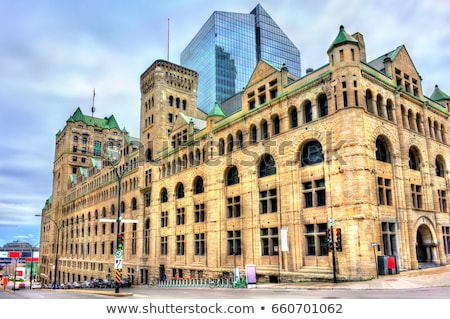 Windsor Station and skyscrapers Stock photo © aladin66