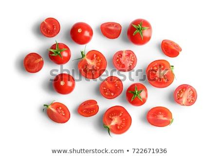 Pomidorki biały żywności zdrowia tle czerwony Zdjęcia stock © elenaphoto