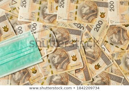 Stock photo: Stack of polish zloty