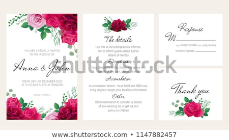 set of dark red labels stock photo © orson