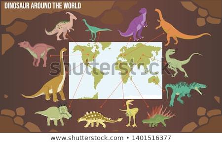 Ancient type world map. Stock photo © lypnyk2