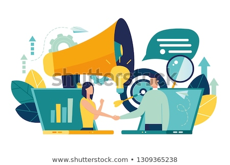 online · business · deal · jonge · zakenman - stockfoto © silent47