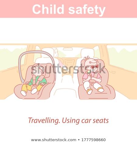küçük · bebek · çocuk · güvenlik · araba · koltuk - stok fotoğraf © phbcz