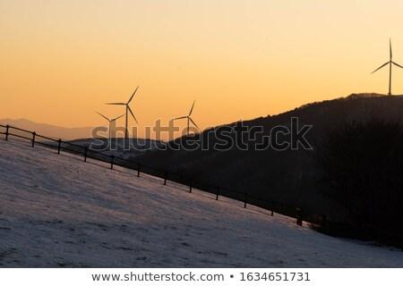 Zdjęcia stock: Wiatrak · góry · więcej · horyzoncie · line