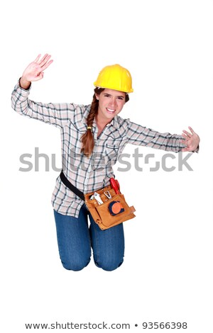 Female builder pretending to be stuck stock photo © photography33