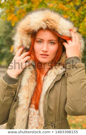 Adulto mujer jóvenes caucásico ojos verdes Foto stock © Forgiss