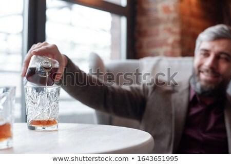 empresario · vidrio · whisky · casual · ropa - foto stock © pedromonteiro