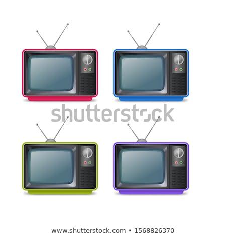 Televizyon anten atış gökyüzü Stok fotoğraf © devon