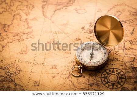 vintage navigation equipment compass stock photo © janpietruszka
