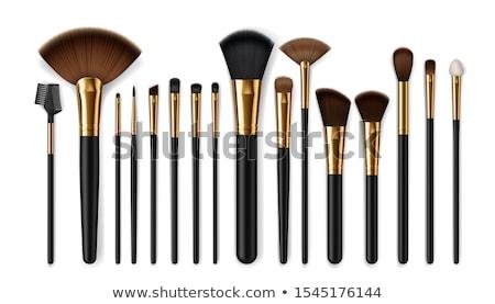 black cosmetic brush isolated Stock photo © ozaiachin