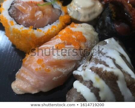 домашний суши рыбы кухне азиатских Кука Сток-фото © bobbigmac