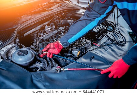 car air compressor with manometer stock photo © papa1266