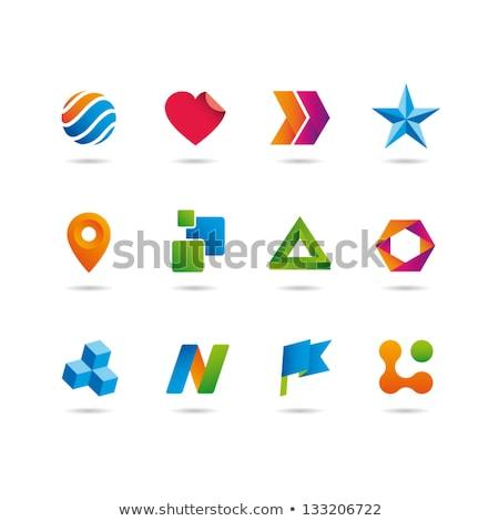 логотип · Элементы · иллюстрация · различный · бизнеса · цветок - Сток-фото © BarbaRie