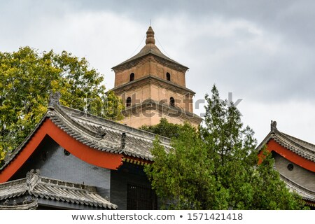 Landmark of a famous historic cathedral in Xian China Stock photo © bbbar