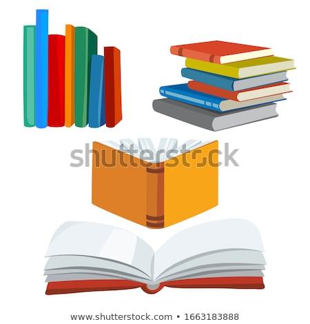 Prateleiras para livros livros branco abstrato livro Foto stock © unweit