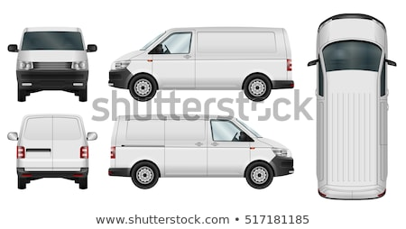 Plan línea ilustración camión limpio Foto stock © lkeskinen