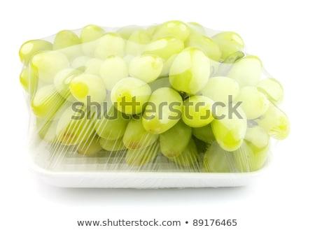 Vákuum édes szőlő fehér gyümölcs háttér Stock fotó © Masha