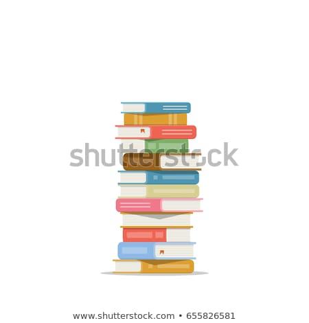 Livros branco laranja grupo leitura Foto stock © fixer00