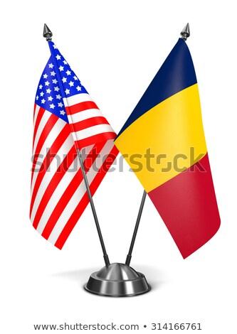 Miniatuur vlag Tsjaad geïsoleerd vergadering Stockfoto © bosphorus