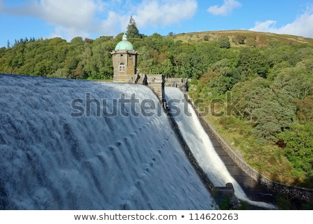 Reservatório água vale país de gales construção paisagem Foto stock © latent
