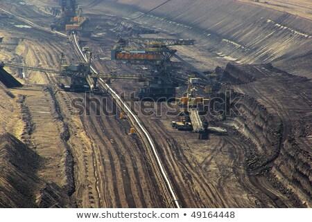 掘削機 ブラウン 石炭 鉱山 ストックフォト © visdia
