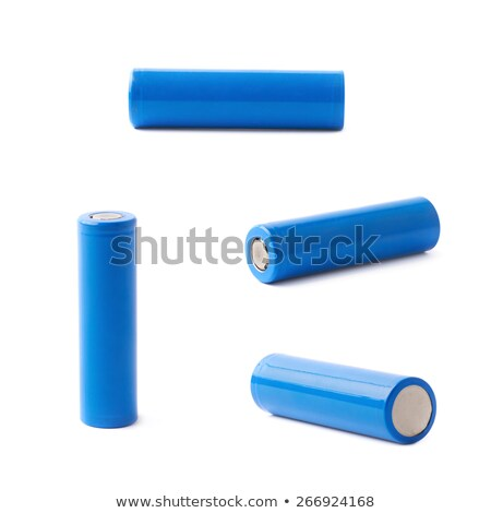 blue AA batteries. isolated over white background Stock photo © shutswis