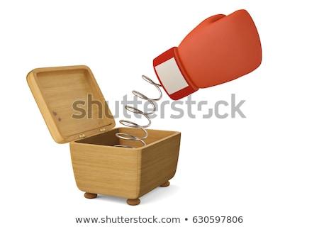 Fora caixa de presente copo prata fita Foto stock © Pixelchaos