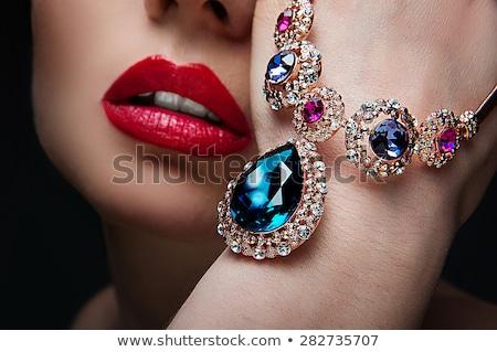 fashion woman with jewellery red nails  Stock photo © carlodapino