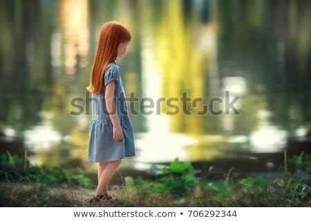 печально девушки портрет рук стороны Сток-фото © oneinamillion