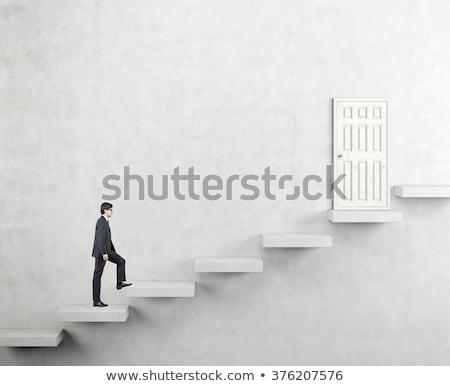 Empresário em cima terno branco profissional andar Foto stock © photography33