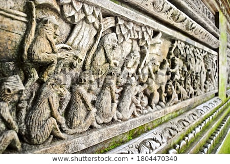 Bas-relief with the gods. Indonesia, Bali. Stock photo © pzaxe