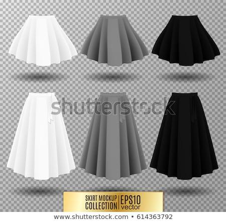 girl in black short skirt stock photo © grafvision