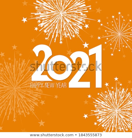 new year card with beautiful color decorations stock photo © elmiko