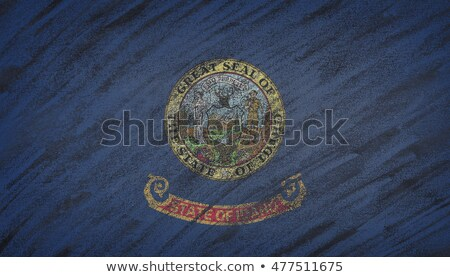 flag of US state of idaho on blackboard painted with chalk Stock photo © vepar5