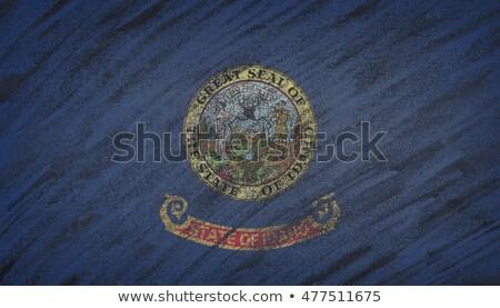 bayrak · Idaho · tahta · boyalı · tebeşir · amerikan - stok fotoğraf © vepar5