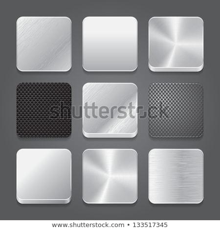 ストックフォト: 金属 · ボタン · アイコン · ウェブサイト · セット · 2