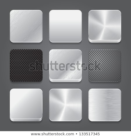 metal · botões · ícones · conjunto · dois - foto stock © liliwhite