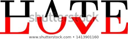 szeretet · gyűlölet · piros · zöld · utca · feliratok - stock fotó © ivelin