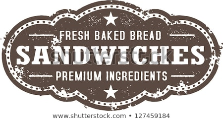 ヴィンテージ サンドイッチ にログイン スタイル サンドイッチ グラフィック ストックフォト © squarelogo
