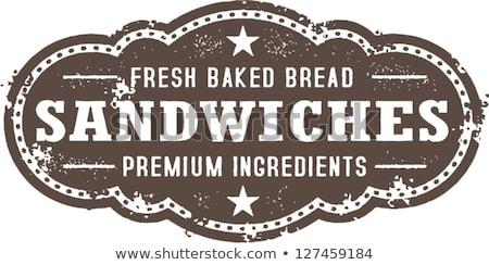 Vintage Deli Sandwiches Sign Stock photo © squarelogo